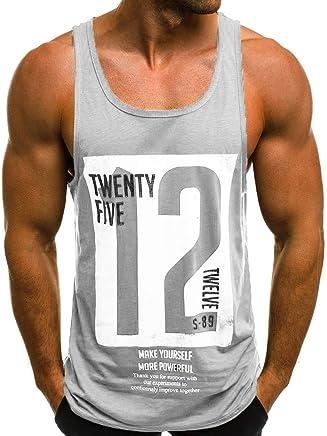 40502da1f65eb Dreamyth-Summer Men s Casual Slim Letter Printed Sleeveless Tank TOP T  Shirt Top Blouse