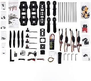 Oupeng 250 Frame Set Micro/Mini Servos + Cuernos Durable para helicóptero RC avión (Colorido)