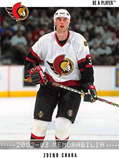 2002-03 Be A Player Memorabilia Hockey #130 Zdeno Chara Ottawa Senators Official NHL Card by ITG In The Game