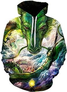 Men Dragon Ball 3D Print Pullover Hoodie Sweatshirt with Front Pocket
