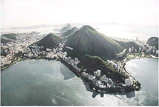 SmartSpo Vuxna 1 000 bitar pussel leksaker spel solig bukt i Rio De Janeiro barn vuxna utmanande högupplöst tryck