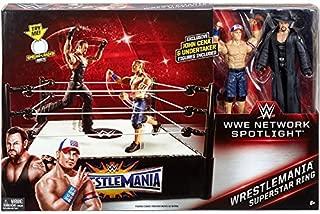 WWE Wrestlemania Network Spotlight Superstar Ring with Action Figures - Undertaker and John Cena