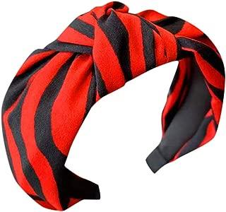 TIANMI Women's Striped Headband Bow Headband with Headband Hair Band