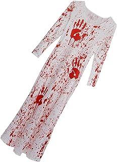 Perfeclan ?ロングワンピース 恐ろしい 長い 血まみれ ドレス ハロウィーン 衣装 女性 2サイズ - L/XL