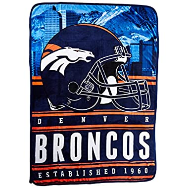 Northwest Officially Licensed NFL Denver Broncos Stacked Silk Touch Throw Blanket, 60  x 80