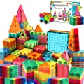 Landtaix Kids Magnet Tiles Toys 2020 New Upgrade 100Pcs Oversize 3D Magnetic Building Blocks Tiles Set,Inspirational Educational Toys for 3 4 5 6 Year Old Boys Gilrs Gifts