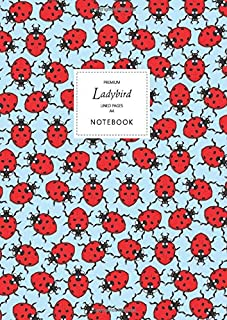 Ladybird Notebook - Lined Pages - A4 - Premium: (Sky Blue Edition) Fun notebook 192 lined pages (A4 / 8.27x11.69 inches / ...