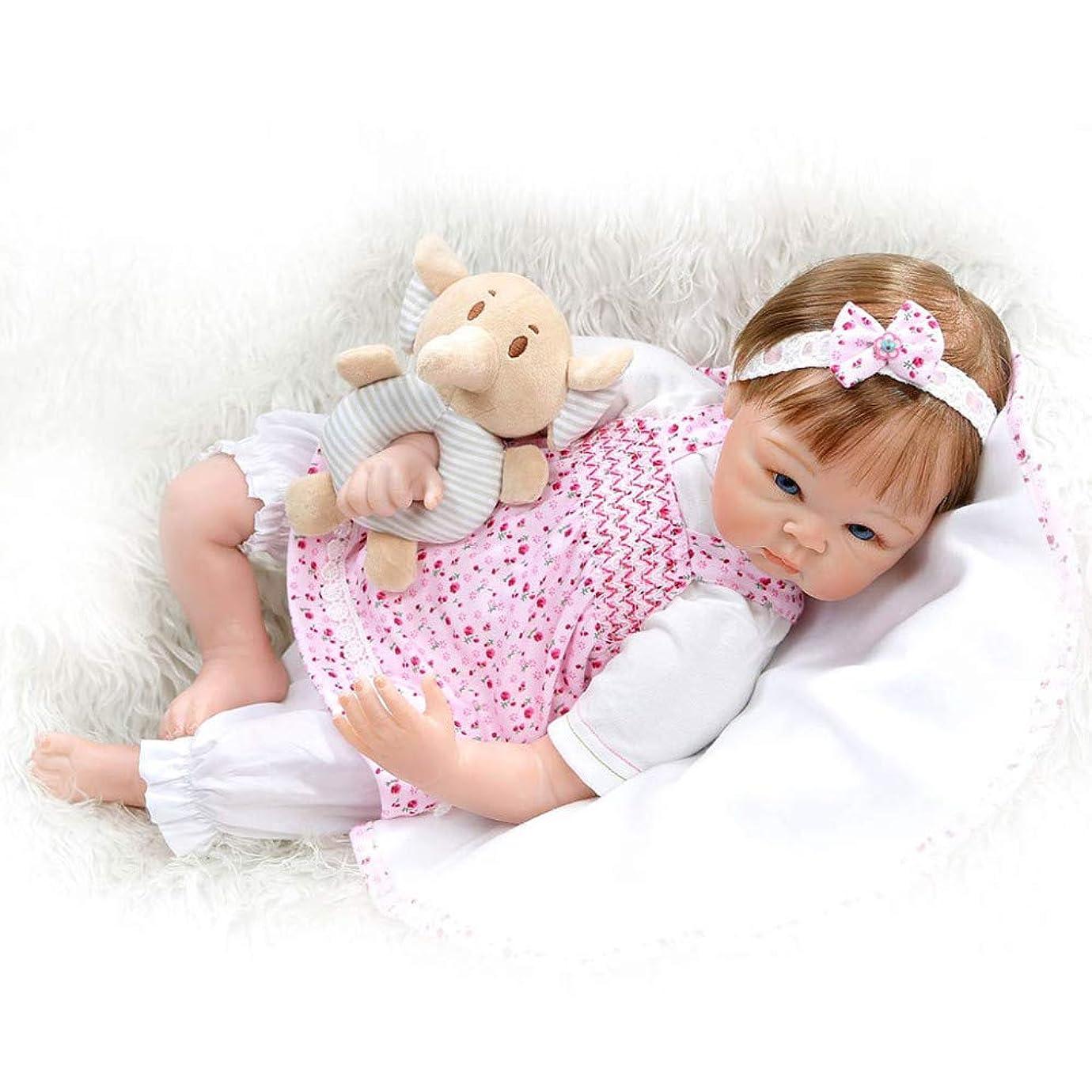 ウルル強制的つま先生まれ変わった赤ちゃん人形55センチ22インチソフトシリコーンリアルな見ている新生児の女の子の人形幼児のおもちゃギフト