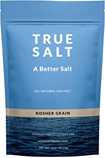 True Salt Gourmet Kosher Grain Salt - 16 Ounce - Premium Unprocessed Sea Salt - Sourced from the Sea of Cortez
