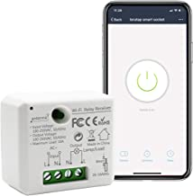LoraTap Mini Smart WiFi Switch Wireless Remote Control Timer Switch Relay Module, Voice Control by Alexa, Google Home, IFTTT and Phone App, No Hub Required, 10A/1100W, 100-250VAC, White