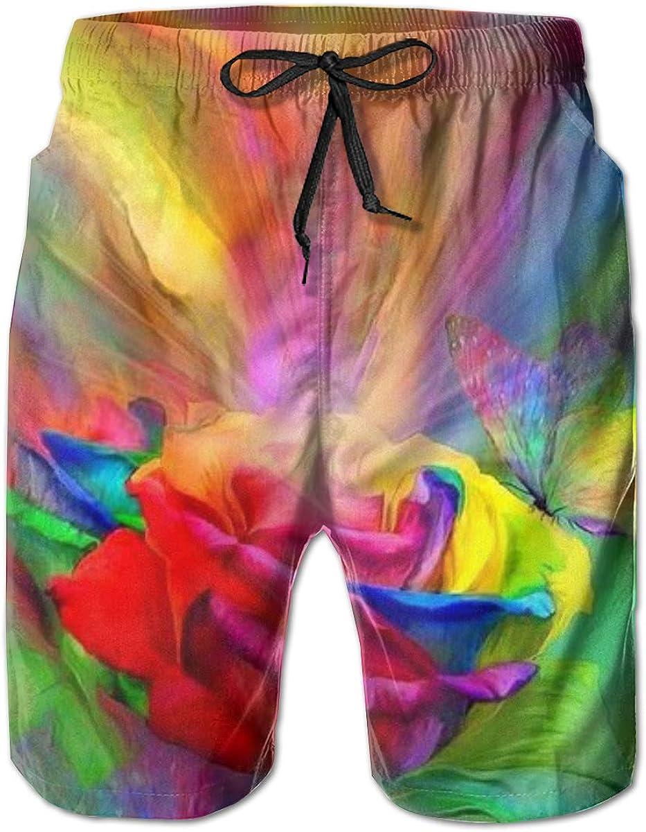 YongColer Men Cool Half Pants Beach Shorts Quick Dry Swim Trunks - Turkey Face Black