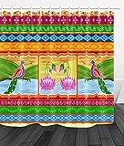 Lumengqi Diseño Floral del pájaro Indio del Estilo del arteCortina de Ducha Impermeable Decorativa con impresión HD, Adecuada para baño, 12 Ganchos Gratis, 180X180cm