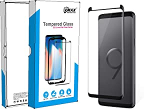 VMAX MORE THAN YOU SEE Protector Samsung S9 Screen Shield,3D Case Friendly Tempered Glass Full Coverage High Definition Screen Protector Samsung Galaxy S9 Black with Applicator for Easy Installation