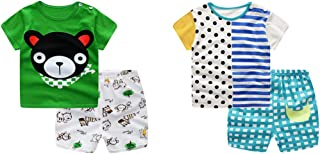 Baby Boy's T-Shirt Short-Sleeve Short Set Cartoon Tees Pant Sets for Infant Toddlers Kids 6-48 Months 2 -Set