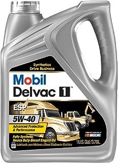 Mobil (112825-4PK) Delvac 1 ESP 5W-40 Motor Oil - 1