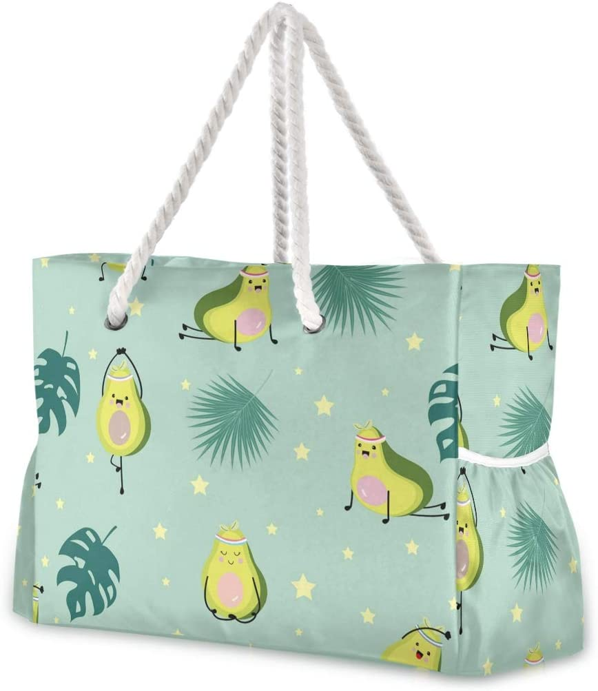 Large Beach Bags Las Vegas Mall Totes Canvas Tote Shoulder Green Avocado Pa Bag Safety and trust