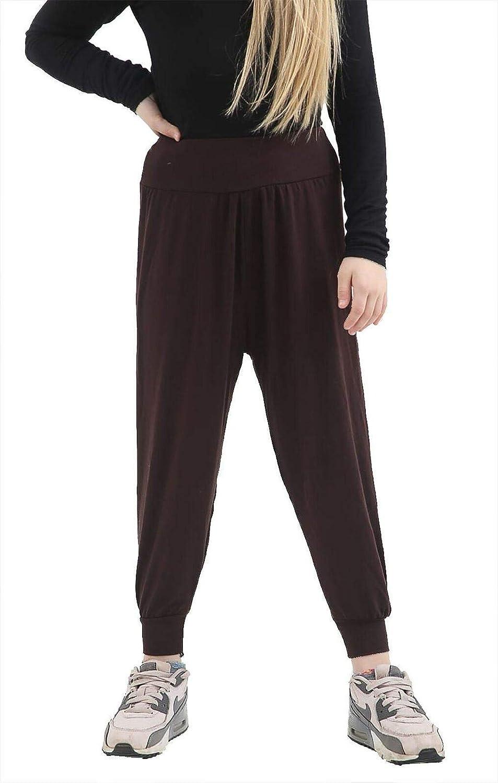 Rimi Hanger Kids Ali Baba Harem Pants Girls Plain and Printed Ali Baba Baggy Trousers Leggings