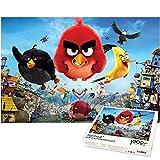 Rompecabezas de 1000 Piezas para niños Rompecabezas Juego Familiar Angry Birds Rompecabezas decoración del hogar Regalo Creativo Amantes o Amigos 70x50cm-angry Birds