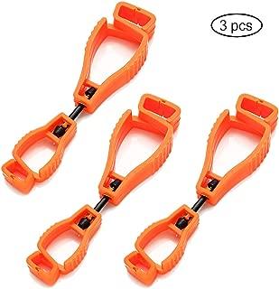 RichardJov glove holder Glove Clip plastic Working gloves clips Plastic Clip Belt Attachment, Non Conductive, Standard (Orange)