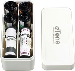 120 220 135 Multi-Format Film Container Case Storage Box B&W B/W Color Slide (White)