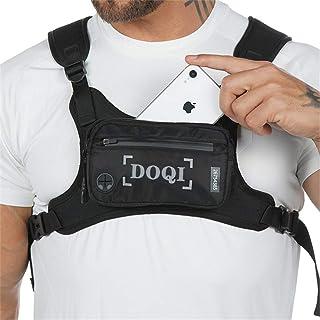 AMZDOQI Diebstahl-sicher Brusttasche Herren Damen Wasserdicht Klein Lauftasche für Outdoor Sport Jogging Trainning Fitness