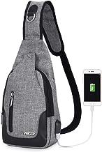 Vbiger Brusttasche Sling Rucksack Schultertasche Brusttaschen für Damen und Herren Daypack Militär Sporttasche, Stil1-grau, One size, Stil1-grau, One size