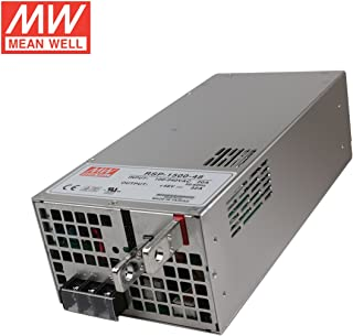 Mean Well RSP-1500-48 Enclosed Switching AC-to-DC Power Supply, Single Output, 48V, 0-32.0A, 1536W, 3.3