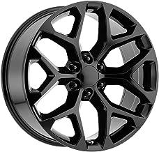 24 Inch Replica V1182 GM Snowflake 24X10 6x139.7 +27mm Gloss Black Wheel Rim