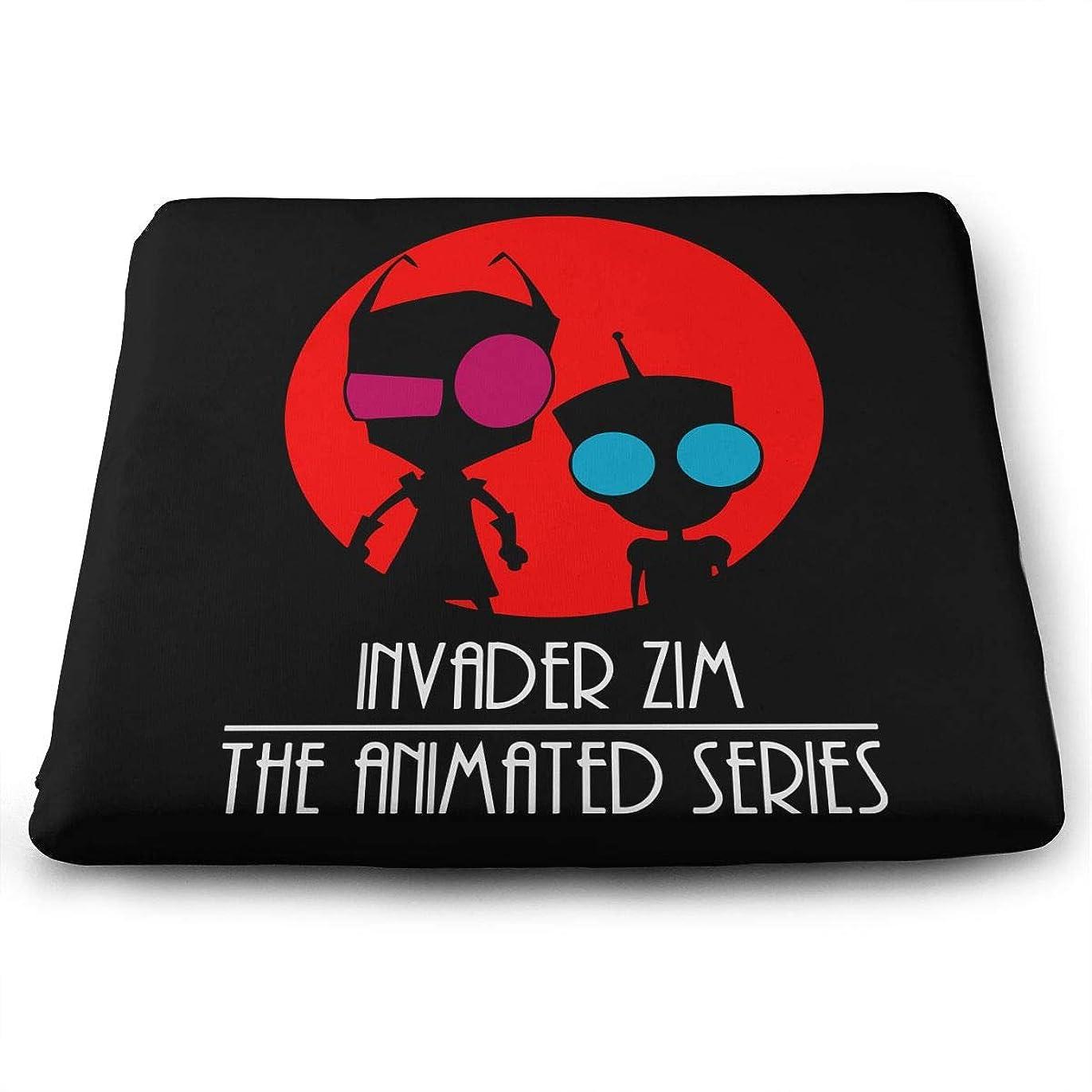 チャーミングマサッチョワームインベーダージム \r\nアニメシリーズ Invader Zim The Animated Series スクエア座布団 四角クッション 低反発 柔軟 優しい肌触り 椅子に最適 座り心地抜群 おしゃれ シートクッション
