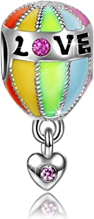 Hot Air Balloon Trip Christmas Charms Gifts 925 Sterling Silver Bead Charms Fit for Bracelets, Perfect for Girlfriend