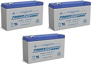 6V 10Ah F1 AGM Battery Replaces PS-6100 F1 LC-RB0610P SLA0955 NP10-6 PRB610 BSL0955 LC-R0611P ELB0610 PM6100 BP10-6 ELB-0610 PC6100 LC-R6V10PA RB6100 ELB610 ELB06010 6V10A CF-6V10