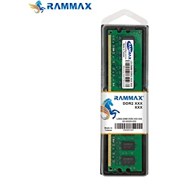 RAMMAX RM-LD800-2GB PC2 6400 CL6 240PIN 2GBメモリ デスクトップパソコン用 増設メモリ DDR2 PC2-6300 PC2-6400 800MHz 240pin DDR-SDRAM DIMM