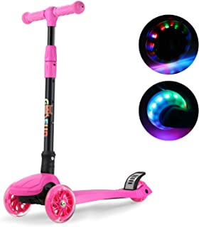 GOSFUN Patinete 3 Ruedas con LED Luces,Diseño Scooter