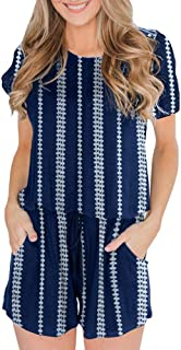 BOCOTUBE Women's Summer Casual Short Sleeve Striped Front...