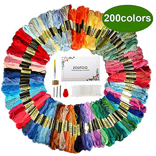 Hilo de bordar, 200 colores., 1