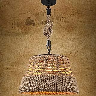 Jiuzhuo Rustic Nautical Rope Woven Drum Shaded 1-Light Pendant Light