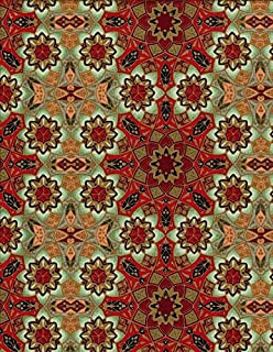 1.5 Yards Winter Solstice by Jason Yenter in The Beginning 100% Cotton Quilt Fabric Snowflake Mosaic JYA5 JYA3