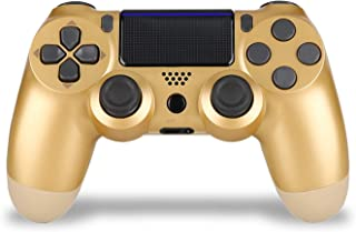 JUEGO Wireless PS4 Controller, PS4 Remote for Sony Playstation 4 with Charging Cable and Double Shock. Gold
