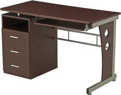 "Techni Mobili Computer Desk with Ample Storage, Chocolate, 30"" x 22.75"" x 47.25"", Chocolat"