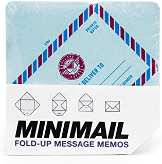 SUCK UK Memo Mini Tear-Off Envelopes/Messages & Notes | Message Pad in Classic & Vintage Airmail Design, Multicolor 100 Piece