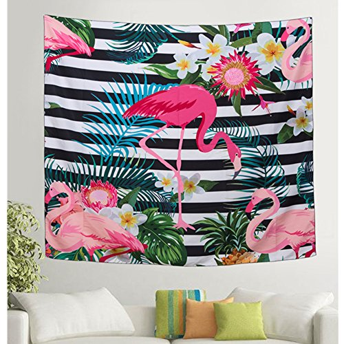 Ruick Flamant Rose Tapisserie, Zigzag Floral Flamingos, 79\