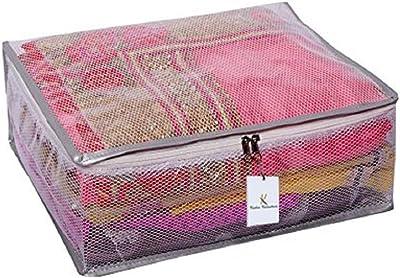 Kuber Industries™ Heavy Transparent Net Saree Cover Set of 2 Pcs