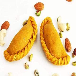 Ghasitaram Gifts Indian Sweets (Mumbai), Holi Sweets, Authentic Indian, Sugarfree Sweets Mawa Kesar Gujiya 400 Grams