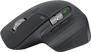 ロジクール アドバンスド ワイヤレスマウス MX Master 3 MX2200sGR Unifying Bluetooth 高速スクロールホイール 充電式 FLOW 7ボタン windows Mac iPad OS 対応 無線 マウス MX2...