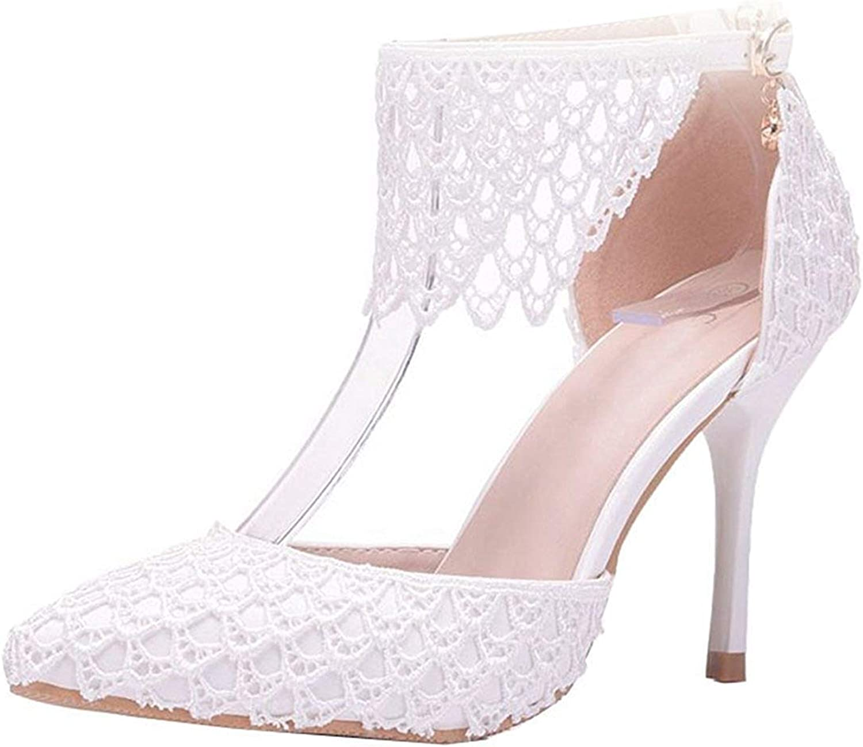 ZHRUI Damen-Knöchel-Bügel-fallende weiße Formale Partei-Hochzeit Partei-Hochzeit Partei-Hochzeit pumpt Schuhe Großbritannien 7 (Farbe   -, Größe   -)  4ded09