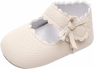 WINJIN Chaussures bébé Cuir Souple Chaussures de Bébé Fille Garçcon et Bambin Chaussons Premiers Pas Respirant Semelle Dou...
