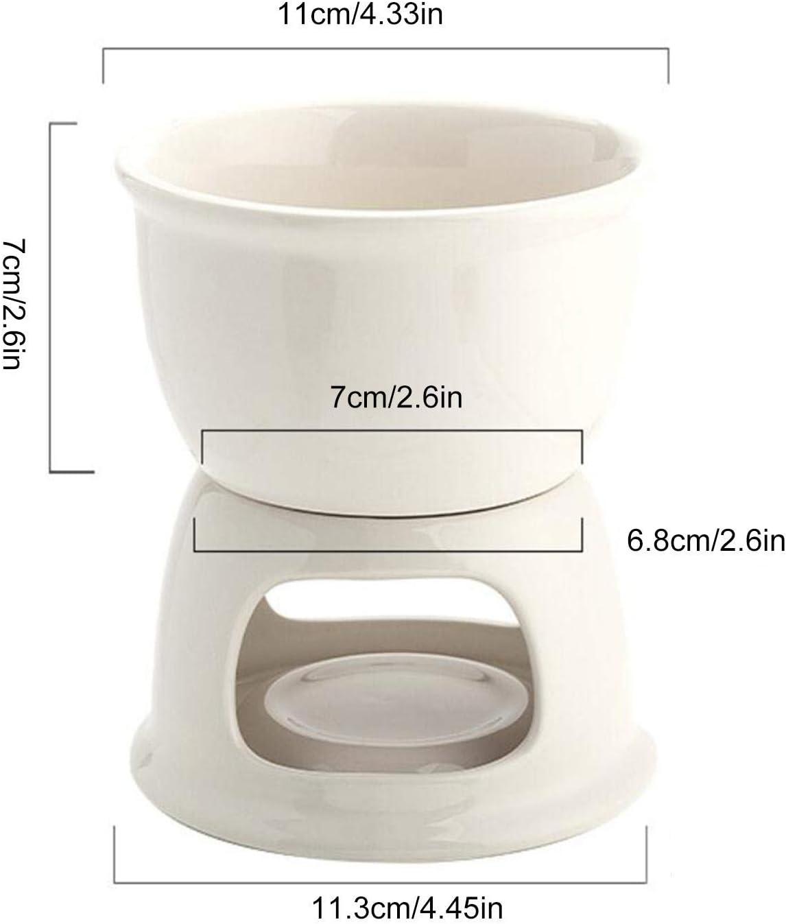 High grade Ceramic Chocolate Melting Furnace Fondue For Melting Cheese Cheese And Chocolate WXGY Cheese And Chocolate Melting Pot