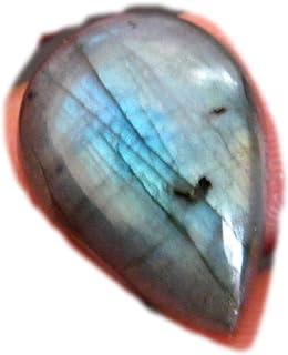 RASIO Cabujón de labradorita llamativo, forma cuadrada, hermoso cabujón de diseñador, piedra preciosa de labradorita natur...