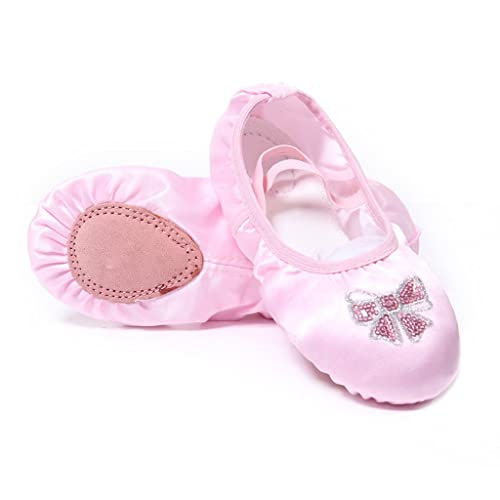 7776a3276035 DoGeek Pink Ballet Shoes Women Satin Ballet Pumps Dance Gymnastic Ballerina  Shoes for Adults and Children