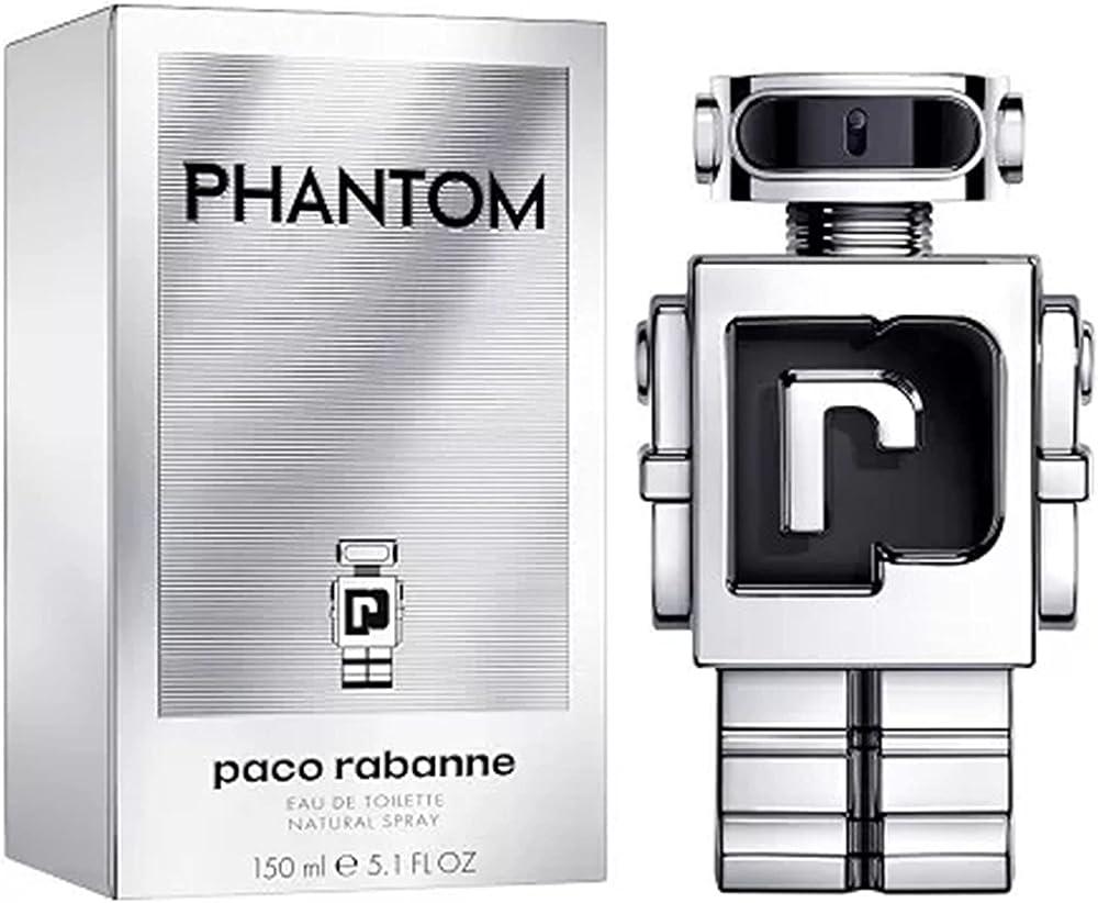 Paco rabanne phantom eau de toilette profumo per uomo 150 ml natural spray ricaricabile 65171497